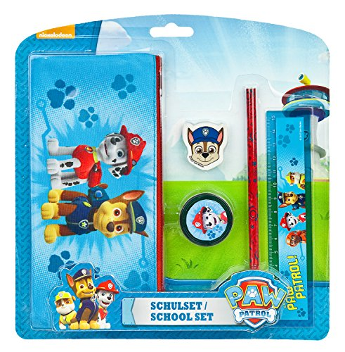 Undercover PPUT6471 - Paw Patrol Schulset, 5-teilig
