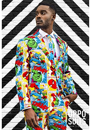 Opposuits Official Marvel Comics Hero Suits - Infinity War Avengers Costume Comes with Pants, Jacket and Tie, Marvel Comics,56 -