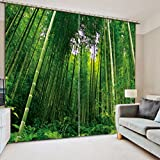 Wapel Moderne Vorhänge Bambus Foto 3D Vorhänge Für Wohnzimmer Green Natur Landschaft Blackout Vorhänge Für Das Schlafzimmer Custom H215 * W200cm
