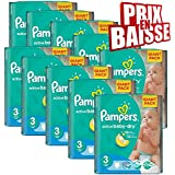 592 couches Pampers Active Baby Dry Taille 3 Midi (4-9 kg)
