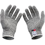 SET-SAIL Handschuhe,Setsail 1 Paar Schnittschutzhandschuhe Food Grade Stufe 5 Schutz Arbeits Cutting (L)