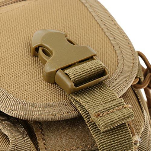 Sharplace Waist Pack Molle Tattico Sacchetto Militare Marsupio Porta Cellulare Penna Chiave Accesorio Sportivo - Verde Militare beige