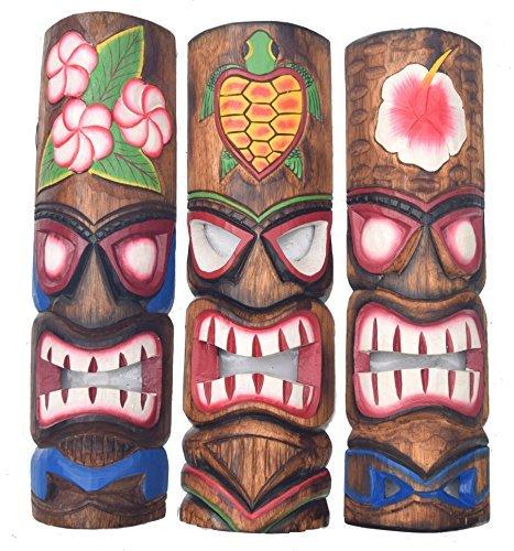 3-Tiki-Mscara-pared-50cm-IM-HAWAI-Estilo-Juego-de-3-Mscara-de-madera-Mscara-MARES-DEL-SUR