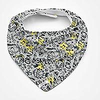 Babero bandana Skate&Skull, para bebés, niños o adultos con necesidades especiales. P_124. ***Envío gratuito a España***