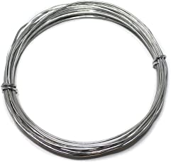 Beadsnfashion Jewellery Making Brass Craft Wire DIY Silver, 10 Mtrs, 18 Gauge Thick (1.20 mm)