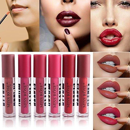 12 Colores Profesional Mate Pintalabios de Maquillaje Larga Duracion para Niñas por ESAILQ K