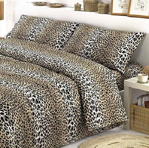 Couette simple (une place) animalier léopard sexy - Sac couette idée cadeau Produit italien - Fabriqué en Italie