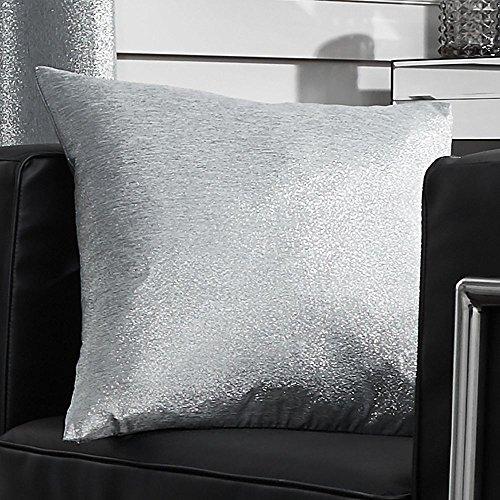 Tony's textiles - copricuscino con glitter - 45 cm x 45 cm - argento