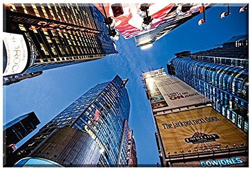 Dowjones, New York Bild von Dr.Michael Feldmann, Leinwandfertigbild Grösse 100 cm x 67 cm, Digitaldruck auf Künstlerleinwand gedruckt, Keilrahmen, Einzelanfertigung nach Kundenwunsch, Stadtlandschaft, New York, Manhattan, USA, Keilrahmenbild fertig zum Aufhängen