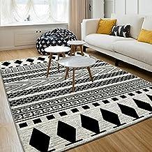 Alfombras blanco y negro - Alfombras dormitorio amazon ...