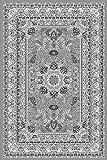 Orient Teppich Kollektion Marrakesh - Orientalisch-europäische Designs / klassisch und modern (80 x 150 cm, Casablanca / Grau 0207 )