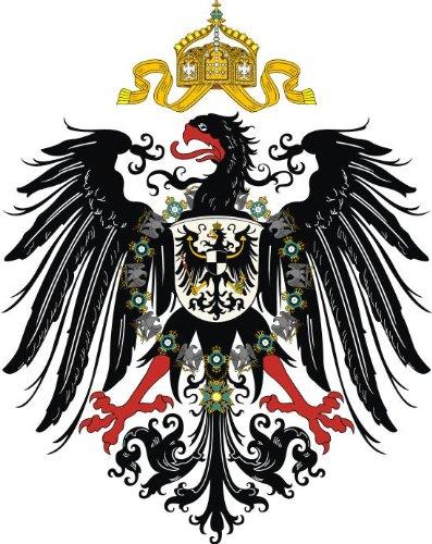 Preisvergleich Produktbild 8, 4 x 8, 4 cm Autoaufkleber Deutscher Kaiser Adler deutsches Reich Preussen Adler Aufkleber Sticker fürs Auto Motorrad Handy Laptop