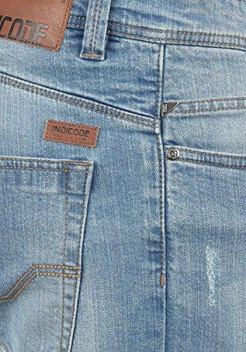 INDICODE Quebec Herren Jeans-Hose lange Hose Denim aus hochwertiger Baumwollmischung Regular-Fit Blue Wash (1014)