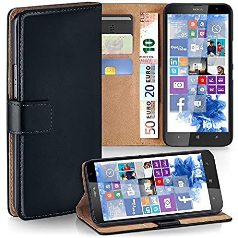 Pochette OneFlow pour Nokia Lumia 1320 housse Cover avec fentes pour cartes | Flip Case étui housse téléphone portable à rabat | Pochette téléphone portable étui de protection accessoires téléphone portable protection bumper en