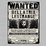 BNTN Bellatrix Lestrange Wanted Harry Potter Tin Sign Metal Sign Metal Poster Metal Decor Metal Painting Wall Sticker Wall Sign Wall Decor
