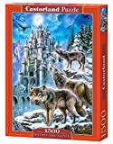 CASTORLAND Wolves and Castle 1500 pcs 1500pieza(s) - Rompecabezas (Jigsaw puzzle, Fauna, Niños...