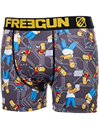 Boxer microfibre - SIMPSONS - Collection officielle Freegun - Taille adulte homme