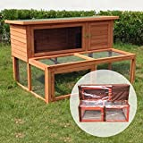 Ancona - 4ft Hutch with Extending Run with Cover