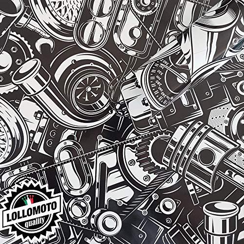 Stickers Bomb Motor Component Pellicola Car Wrapping Adesiva Rivestimento Auto - 38x50cm