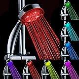 LED Duschkopf Wellnessbrause Handbrause Brausekopf mit 7 Farben