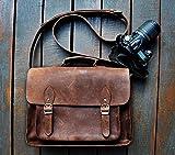 FeatherTouch, Borsa da viaggio in pelle per fotocamera Dslr, 30 x 22,86 x 12,70 cm, colore: marrone - FeatherTouch - amazon.it