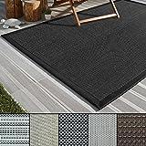 casa pura Outdoor-Teppich Eco-Beauty | mit Bordüre | Ideal für Terrasse, Balkon, Garten, Küche, Flur | aus Kunststoff Wetterfest und rutschsicher | Viele Größen und Farben (Lucca, 160x230 cm)