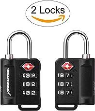 XCSOURCE 2pcs TSA Lock Suitcase Luggage Lock Travel Bagpack 3-Digit Combination Security Padlock with Open Alert Indicator XC402