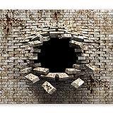 murando - Fototapete 3d Effekt 350x256 cm - Vlies Tapete - Moderne Wanddeko - Design Tapete - Wandtapete - Wand Dekoration - Mauer Ziegel Abstrakt a-A-0098-a-b