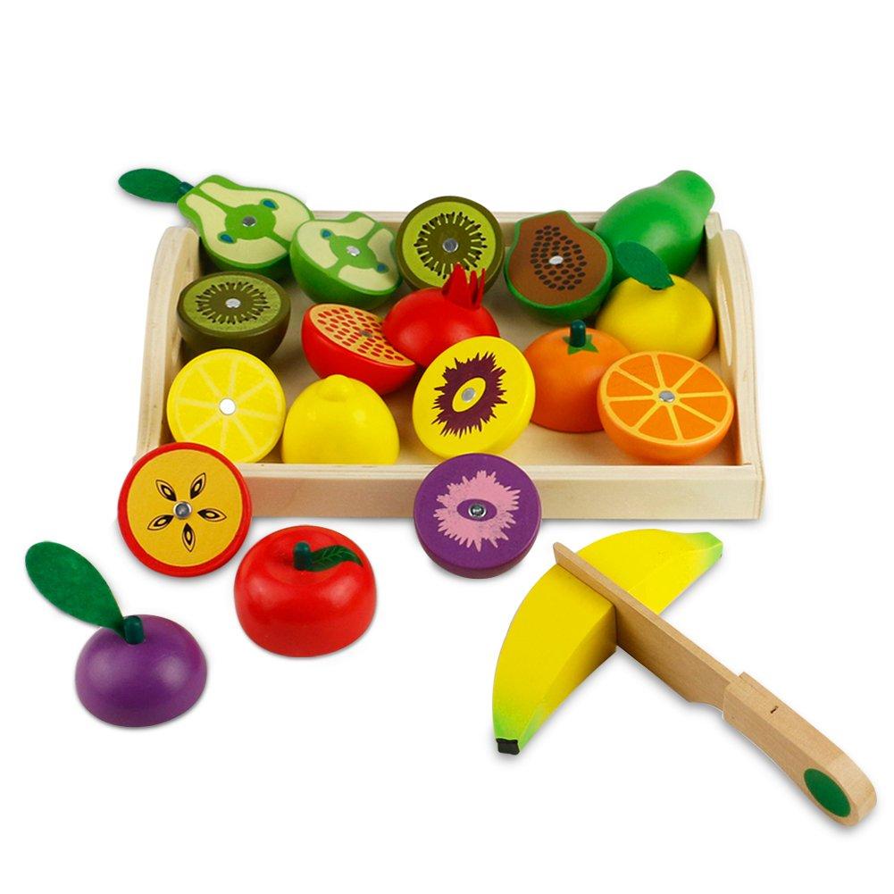 Frutta di legno da tagliare gioco di ruolo per 3 anni for Giocattoli per bambini di 5 anni