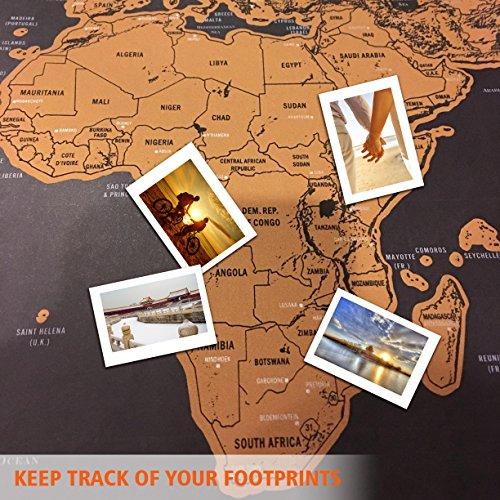 confronta il prezzo Scratch il Mondo,Samione Mappa da Grattare Mappa Multicolore da grattare,Gratta via i posti in cui viaggi 42.3X30 cm miglior prezzo