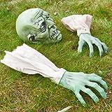 Prextex Halloween Visage Bras de Zombie Bras en pelouse Skakes Le décor de cimetière d'halloween Décorations d'Halloween