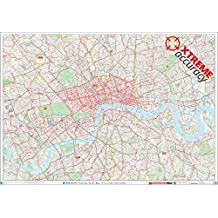 XYZ Postcode Sector Map - (C1) - London City Centre: Plastic Coated Wall Map