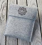 zigbaxx eReader Hülle ROYAL Case Sleeve Filz u.a. für Tolino Vision 4HD 3HD, Tolino Shine 2 HD & Page - Schutzhülle aus 100% Wollfilz - pink schwarz beige grau braun - Geschenk Weihnachten Geburtstag