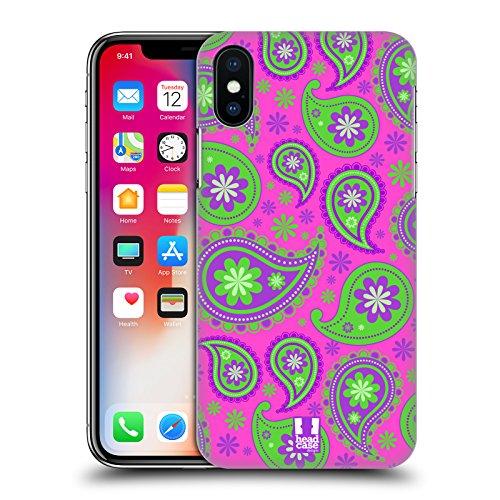 Head Case Designs Sogno Cosmico Paisley Psichedelico Cover Retro Rigida per Apple iPhone X Intervento Astrale