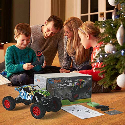 RC Auto kaufen Monstertruck Bild 6: GoStock Ferngesteuertes Auto Elektro Offroad RC Lastwagen 1:18 2,4 Ghz 4WD Off Road Monstertruck Rock Crawler*