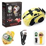 Fewao Wrist Watch Remote Control Car Toy Gravity Sensor Command RC Car Power-Sensing USB Mini Cartoon Baby Car Racing RC...
