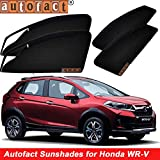 #4: Autofact Magnetic Window Sunshades/Curtains for Honda WRV [Set of 4pc - Front 2pc With Zipper ; Rear 2pc Without Zipper] (Black)