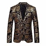 Abito Da Uomo Floreale Vestito Dentellato Bavero Slim Fit Blazer Giacca Elegante Cappotto,Cappotti,Giacche, Giacca A Vento,Maglioni, Felpa, Felpe, Abbigliamento Sportivo (2XL)