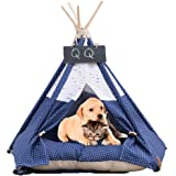 Pet Tent Dog & Cat Bed Soft Dog Tent & Pet Houses inomhus utomhus med kudde och tavla