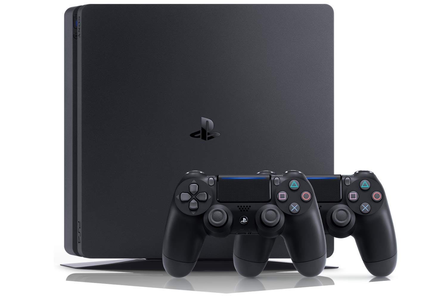 Playstation 4 (PS4) – Consola 500 Gb + 2 Mandos Dual Shock 4 + Contenido Fortnite (Edición Exclusiva Amazon)