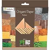 Decopatch - 52503MD - Avenue Mandarine - Origami Paper Nature - 20 x 20 cm - 60 Feuilles - 70 g