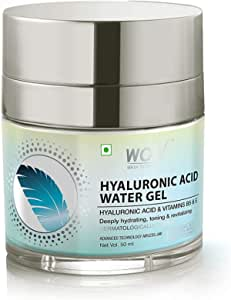WOW Skin Science Hyaluronic Acid Water Gel for Hydration, Toning - with Hyaluronic Acid & Vitamins B5 & E - For All Skin Types - No Parabens, Silicones, Color, Mineral Oil & Synthetic Fragrance, 50 ml