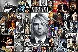 #4: Posterhouzz Music Nirvana Band (Music) United States HD Fine Art Paper Print Wall Poster