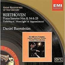 """Sonates pour piano n°8 """"Pathétique, n°14 """"Clair de lune"""" & n°23 """"Appassionata"""""""