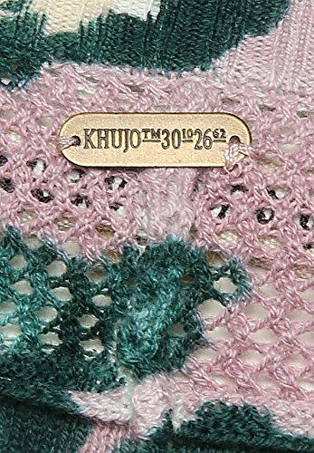 khujo - Pull - À Fleurs - Manches Longues - Femme Small mauve gemustert (FLP1W-LAVE)