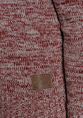 SOLID Prospero - Pull en Maille- Homme Wine Red Melange (8985)