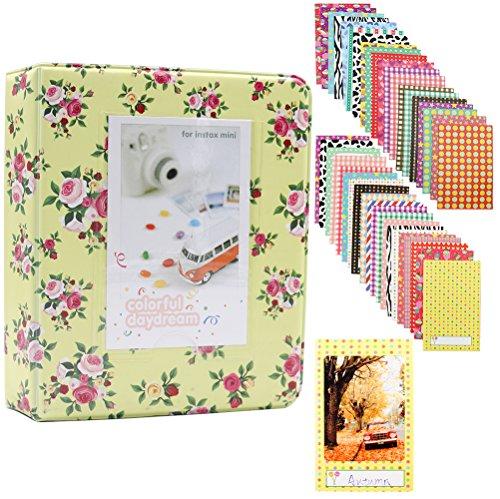 Albus store 64 tasche mini album fotografico per fujifilm instax mini 7s 8 8+ 9 25 26 50s 70 90 scheda istantanea e scheda