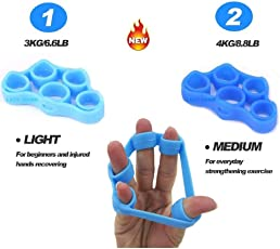 LADY HAWK Silicone Finger Gripper Flexible Strength Trainer Hand Resistance Band – Perfect Finger Muscle Strengthening Workout Exerciser for Women, Men, Seniors & Teens - A Must Have Exerciser for Fitness & Sports Enthusiasts - Excellent Stress Buster – Highly Recommended for Patients With Parkinsons Disease - Can Be Used Anytime & Anywhere.