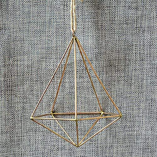 GUGYUF Terrarium Box Moosfarn Blumentopf Dekor Vintage freistehende hängende geometrische Metall Topf Rack Blume Blumentopf in Blumentöpfe, Gold