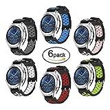 Hagibis Uhren-Armband für Samsung Galaxy Watch 46mm Bands Samsung Gear S3 Frontier oder Samsung Gear S3 Classic (S3-6 Pack)